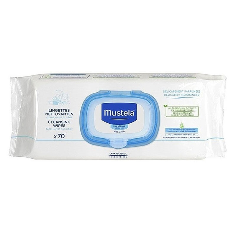 Mustela Salviette Detergenti 70 Pezzi - Sempredisponibile.it