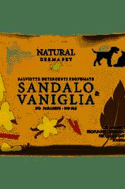 NATURAL DERMA PET SALVIETTINE DETERGENTI SANDALO VANIGLIA 35 PEZZI - Salutefarma.it