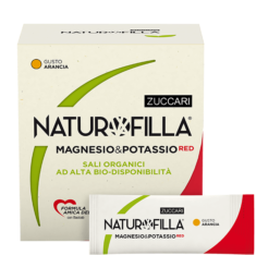 NATUROFILLA MAGNESIO & POTASSIO RED GUSTO ARANCIA 14 STICK PACK - Farmastar.it