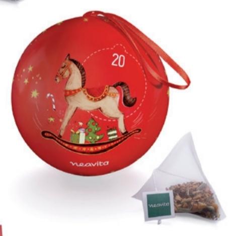 NEAVITA 5 FILTROSCRIGNO CON MELANGE CHRISTMAS TEA IN PALLA DI NATALE ROSSA 5 FILTRI DA 2,5 G - farmaciadeglispeziali.it