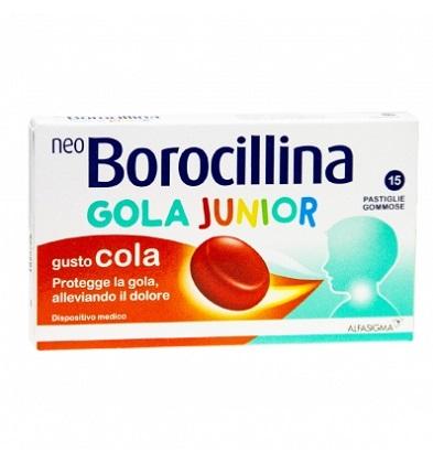 NEOBOROCILLINA GOLA JUNIOR 15 PASTIGLIE COLA - Farmafamily.it