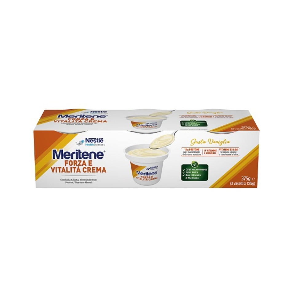 MERITENE CREME VANIGLIA 3 X 125 G - Farmafamily.it