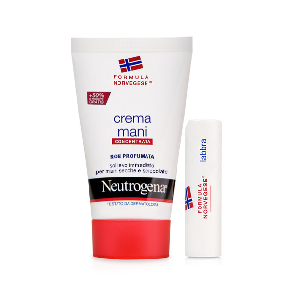 Neutrogena Crema Mani non Profumata + Lipstick Bundle - Arcafarma.it