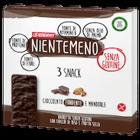 Nientemeno Barretta Cioccolato Fondente e Mandorle senza Glutine 3 Pezzi - Arcafarma.it