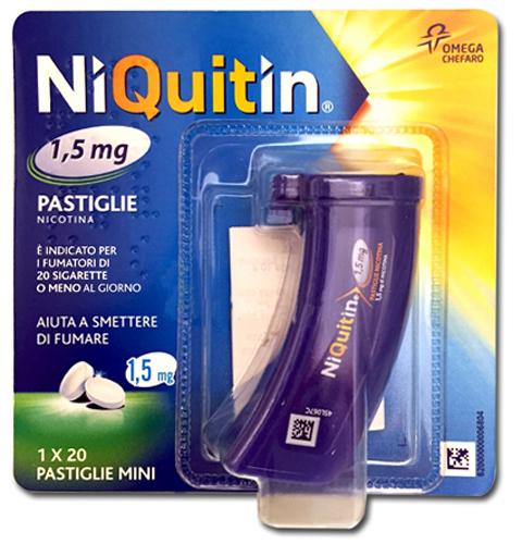 NIQUITIN MINI*20PASTL 1,5MG PP - Farmacia Centrale Dr. Monteleone Adriano