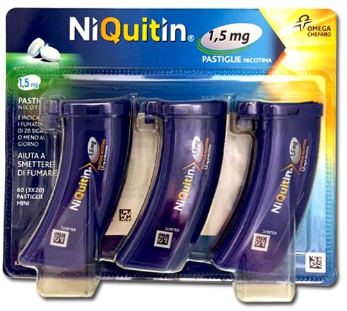 NIQUITIN MINI*60PASTL 1,5MG PP - Farmacia Centrale Dr. Monteleone Adriano