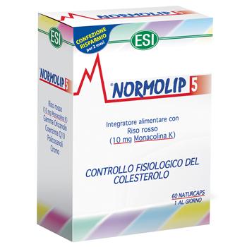 Normolip 5 Controllo Fisiologico del Colesterolo 60 Capsule - Iltuobenessereonline.it