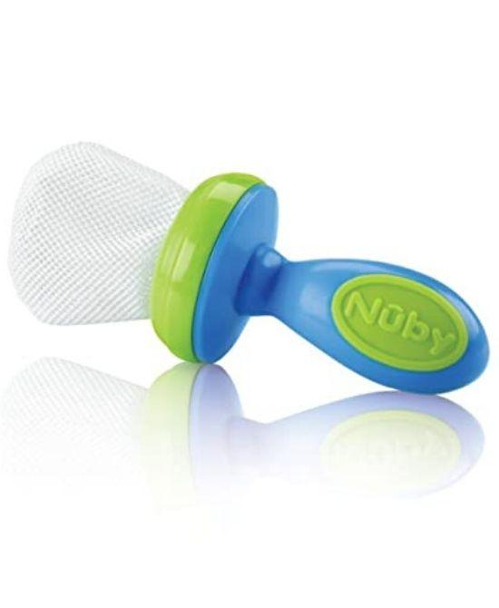 NUBY NIBBLER-SACCHETTINO PER SUZIONE FRUTTA CON CAPPUCCIO - Farmapage.it