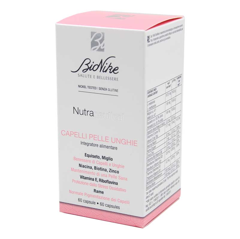 BIONIKE NUTRACEUTICAL CAPELLI/PELLE/UNGHIE 60 CAPSULE - Farmapage.it