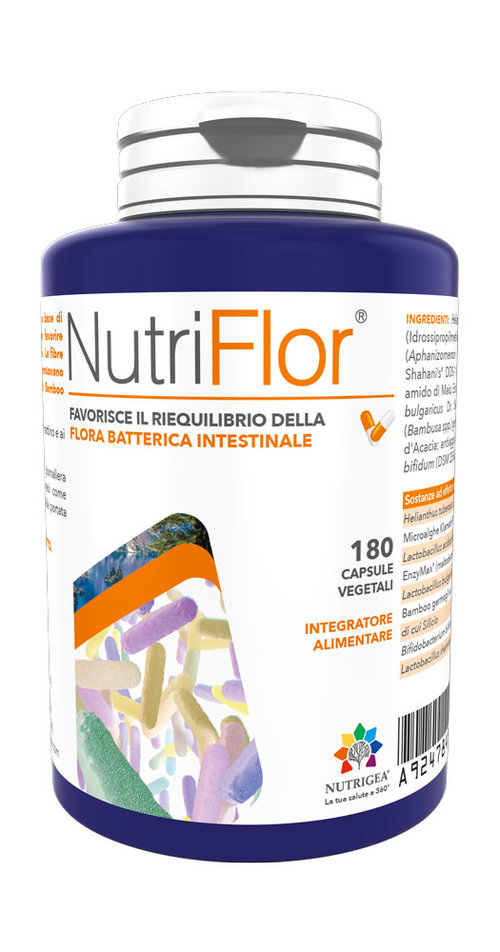 NUTRIFLOR INTEGRATORE FERMENTI LATTICI INTESTINO 180 CAPSULE - Farmastar.it