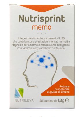NUTRISPRINT MEMO 20 BUSTINE STICK - STANCHEZZA MENTALE  - Farmacia33