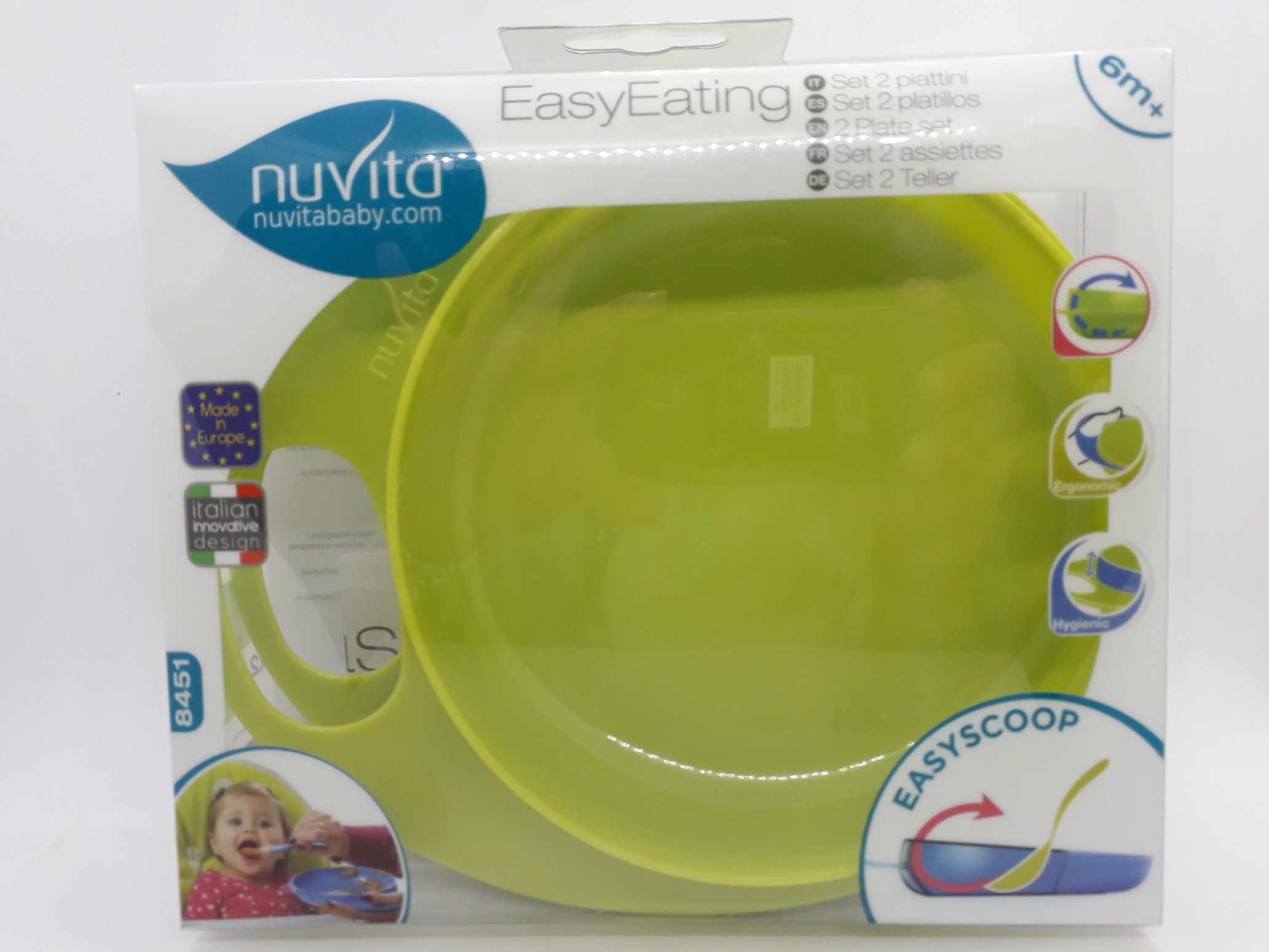 NUVITA PIATTO EASY EATING VERDE - Farmaciaempatica.it