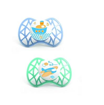 Nuvita Succhietto Air con tettarella Ortodontica 6+ Blue e Tiffany