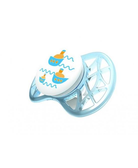 Nuvita Succhietto Air con Tettarella Simmetrica 6+ Blu e Tiffany