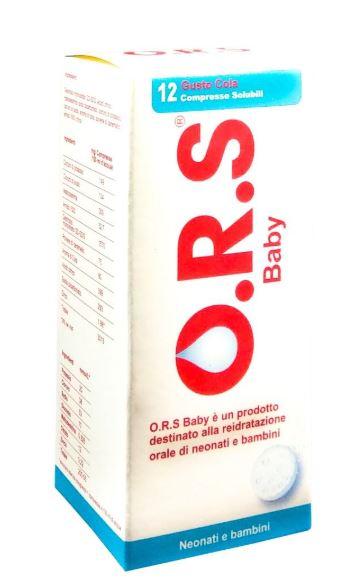 ORS BABY 12 COMPRESSE SOLUBILI GUSTO COLA DA 3 G - Farmafirst.it
