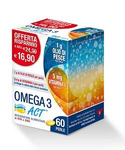 F&F Srl Omega 3 Act Integratore Alimentare di EPA e DHA 60 perle - Zfarmacia