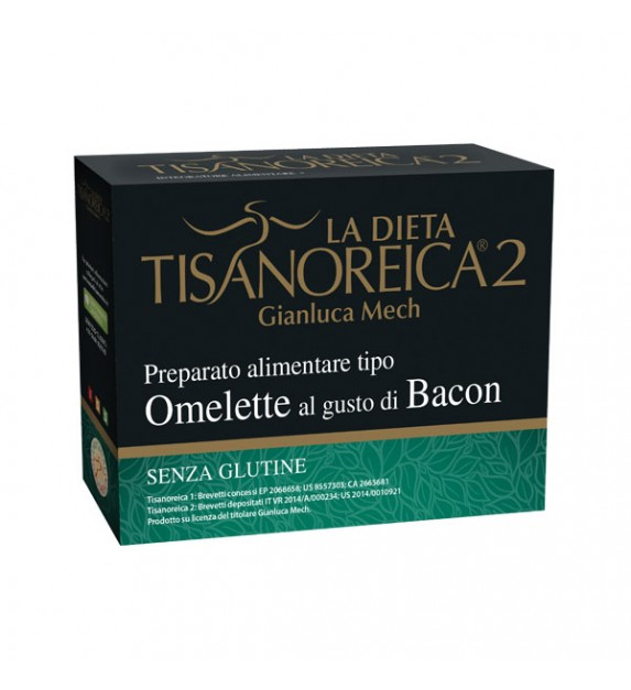 Tisanoreica2 Preparato Alimentare Tipo Omelette al Gusto di Bacon 4 Preparati da 27,5g  - La tua farmacia online