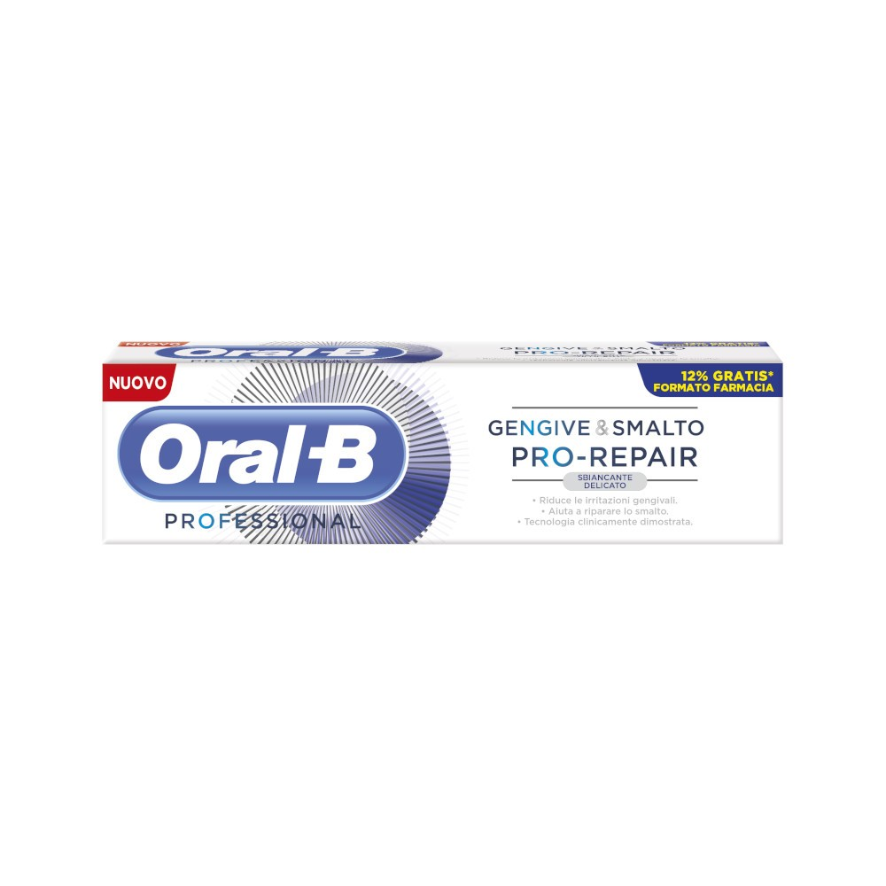 ORAL-B GENGIVE E SMALTO PRO REPAIR WHITE DENTIFRICIO 85 ML - Farmacento