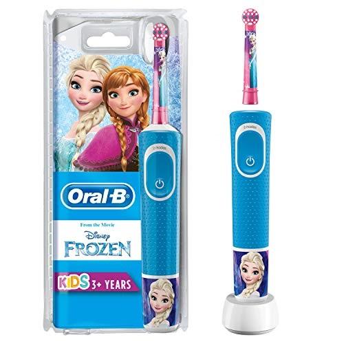 Oral-B Spazzolino elettrico ricaricabile bambini dai 3 anni con disegni Disney Personaggi Frozen