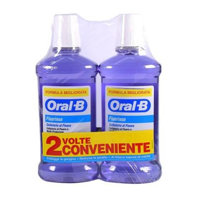 ORALB COLLUTORIO FLUORINSE BIPACCO 2X500 ML - Farmaseller