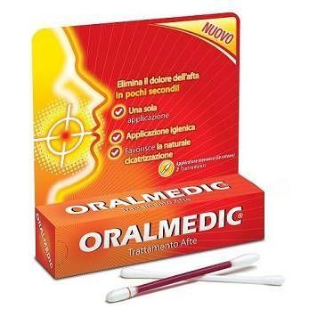 Oralmedic LiquidoTrattamento Afte 2 Applicatori - Arcafarma.it
