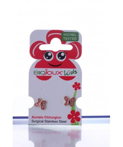 Orecchini Biojoux 710 Pink Butterfly - Arcafarma.it