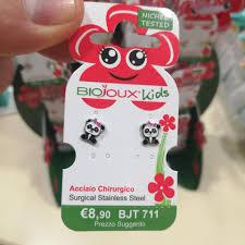 Orecchini Biojoux 711 Baby Panda - Arcafarma.it