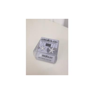 Orecchini Biojoux 928 Starfish White Crystal