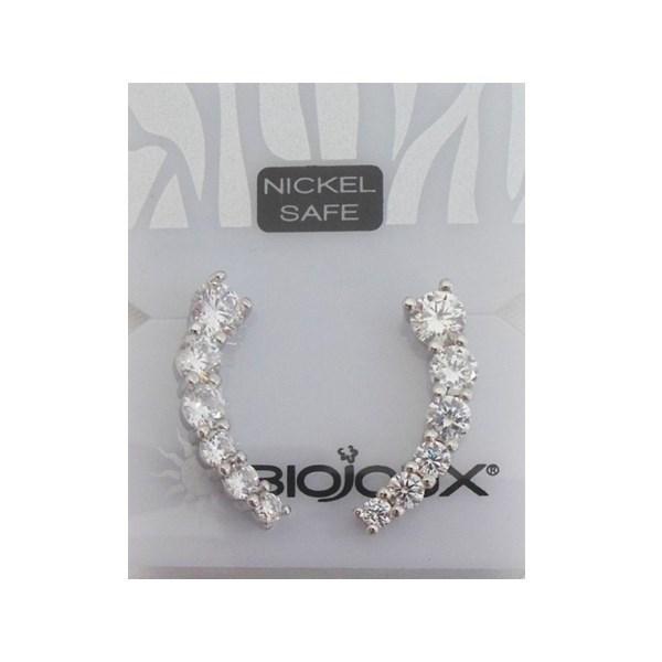 Orecchini Biojoux 949 Ear-Cuff 6 Crystal - Sempredisponibile.it