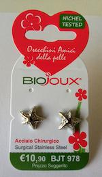 Orecchini Biojoux 978 See Star Crystals 11mm - Sempredisponibile.it