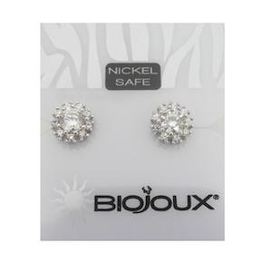Orecchini Sterili Galaxy White Crystal BJT933
