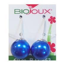 ORECCHINO POST FORATURA BLUE PEARL 14 MM HOOK ARTICOLO BJT953
