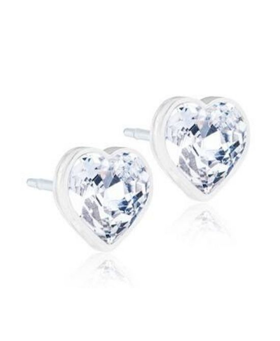 ORECCHINI POST FORATURA SWAROVSKI CRYSTAL HEART BJT964 - Farmapage.it