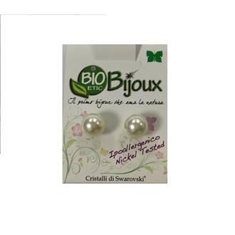 Orecchini Biojoux Perla Cream 6mm - Sempredisponibile.it