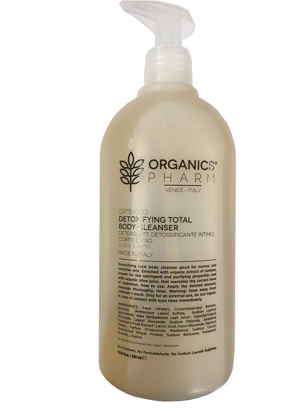 Organics Pharm Detoxifyng Total Body Cleanser Detergente Delicato Corpo Viso Intimo 500 ml - Farmastar.it