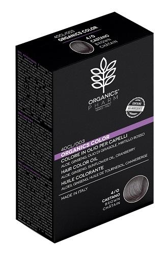 Tinta naturale per capelli 4/0 CASTANO Organics Pharm - Farmastar.it