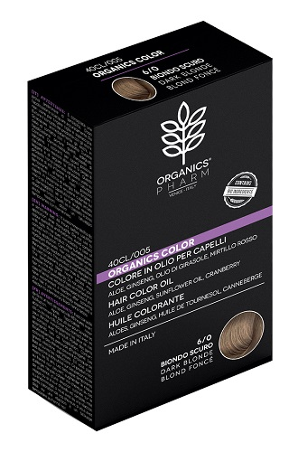 Tinta naturale per capelli 6/0 BIONDO SCURO Organics Pharm - Farmastar.it