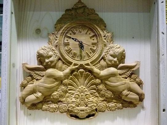 Orologio in legno di ulivo - Antica Farmacia Del Lago