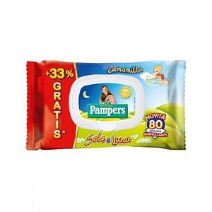 Pampers Salviettini Sole e Luna 60 + 20 Pezzi - Sempredisponibile.it