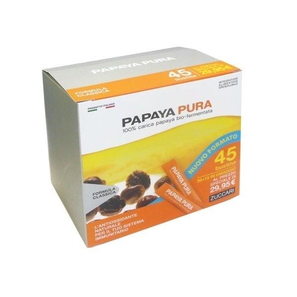 Zuccari Papaya Pura Bio-Fermentata Antiossidante 30 + 15 Stick Da 3 gr - latuafarmaciaonline.it