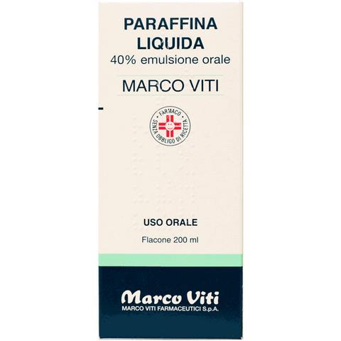 Paraffina Liquida Marco Viti 40% Emulsione Orale 200g - FARMAEMPORIO