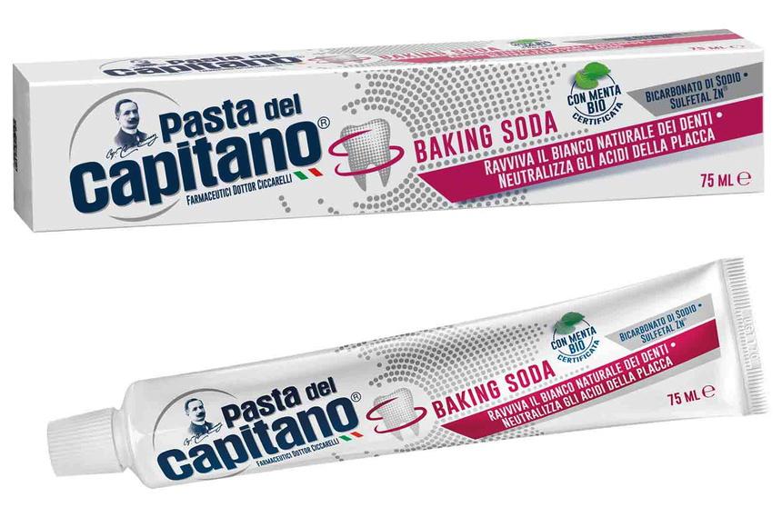 PASTA DEL CAPITANO DENTIFRICIO BAKING SODA 75 ML - Farmacia Centrale Dr. Monteleone Adriano