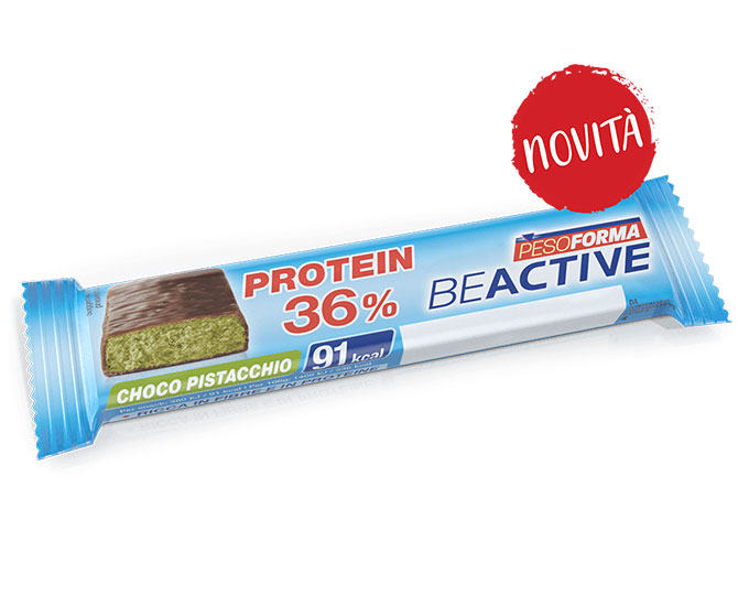 Pesoforma BeActive 36% Proteine Choco Pistacchio 1 Barretta - Farmacielo