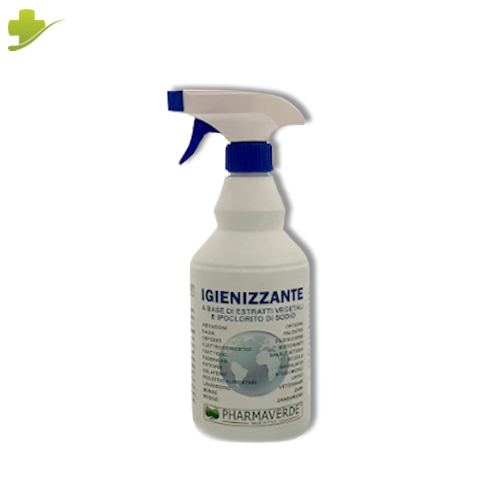 Spray Igienizzante Superfici con Ipoclorito di Sodio 750ml Pharmaverde - Farmastar.it