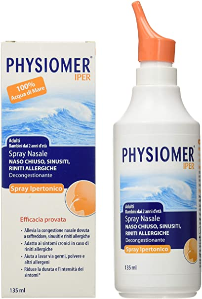 PHYSIOMER SPRAY NASALE  IPERTONICO  135 ML - Farmastar.it