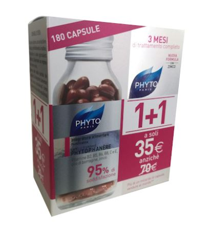 PHYTO PHYTOPHANERE INTEGRATORE ALIMENTARE CAPELLI/UNGHIE 90+90 CAPSULE - Farmafirst.it