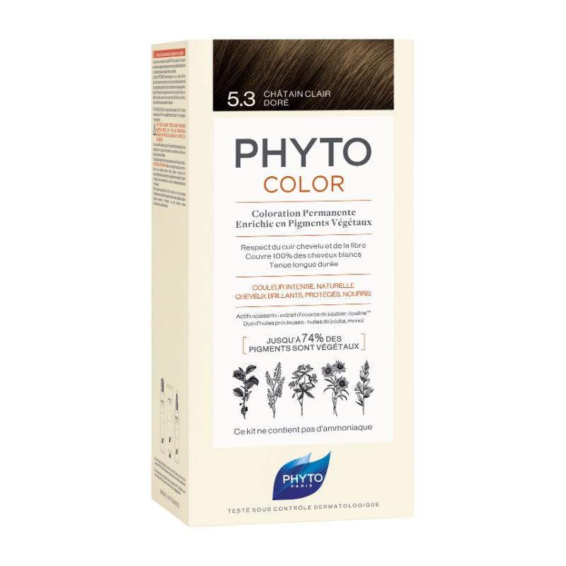 PHYTO PHYTOCOLOR 5.3 CASTAN CHIA DOR 1 LATTE + 1 CREMA + 1 MASCHERA + 1 PAIO DI GUANTI - Farmastar.it