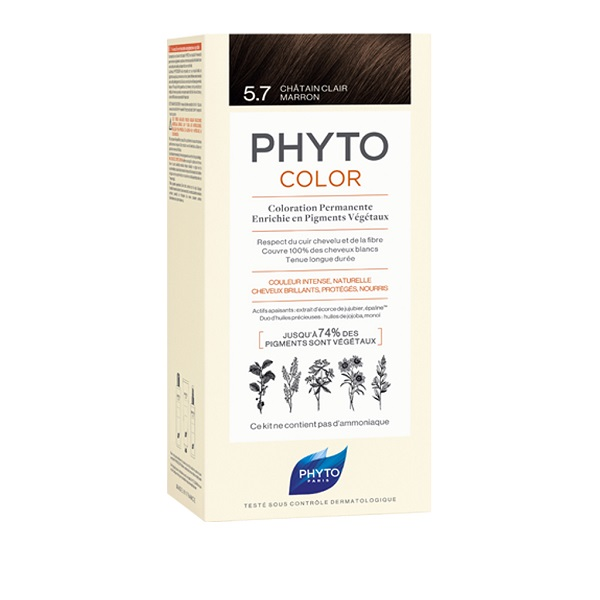PHYTO PHYTOCOLOR 5.7 CASTAN CHIA TAB 1 LATTE + 1 CREMA+ 1 MASCHERA + 1 PAIO DI GUANTI - Farmastar.it