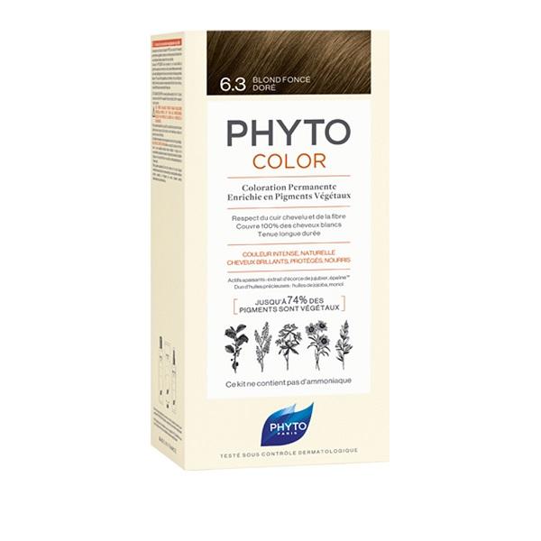 PHYTO PHYTOCOLOR 6.3 TINTA COLORAZIONE CAPELLI BIONDO SCURO DORATO - Farmastar.it