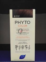 PHYTOCOLOR 6 BIONDO SCURO 1 LATTE+ 1 CREMA + 1 MASCHERA + 1 PAIO DI GUANTI - Farmawing